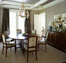 dining room drapes traditional united states with wallpaper and