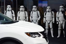 nissan rogue limited edition nissan rogue debuts to starfighters and dancing stormtroopers la