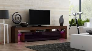 Living Room Furniture For Tv Amazon Com Tv Stand Milano 200 Walnut Line Modern Led Tv