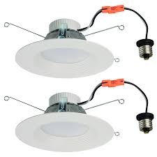lowes retrofit recessed light shop utilitech 2 pack 65 watt equivalent white dimmable led recessed