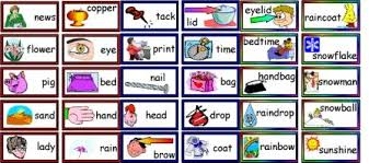 words cards free literacy word compound words matching and joining cards