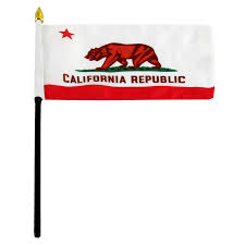Plastic Flags California Flag 4