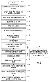 patent us7647249 method for providing a shipping label via an