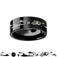 wars wedding bands wars a new space battle black tungsten ring
