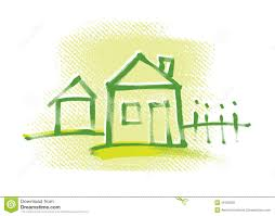 House Drawing Eco House Drawing Stock Photography Image 23059972
