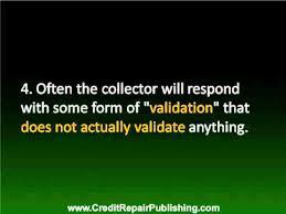 debt validation letter youtube