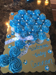 Baby Shower Centerpieces For Boy by Baby Rattle Cupcake Pull Apart Cake For Baby Shower Eats