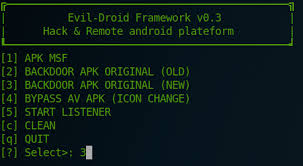 kali linux apk android mobile exploitation with evil droid