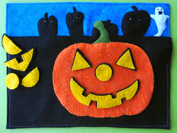 led halloween jack o lantern quiet book page imagine our life