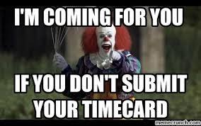 Submit Meme - timecard