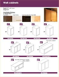 innovative standard kitchen cabinet sizes pertaining to interior
