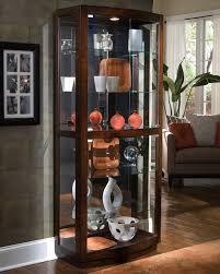 Corner Display Cabinet With Glass Doors Curio Cabinet Impressiveostcourioabinet Photo