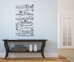 welcome typography hallway lounge vinyl art wall stickers quotes