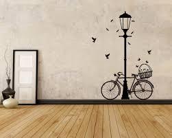 street lamp bicycle vinyl decals modern wall art sticker