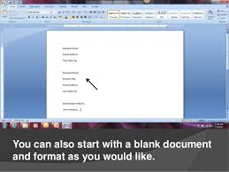 creating cover letters in microsoft word 2007