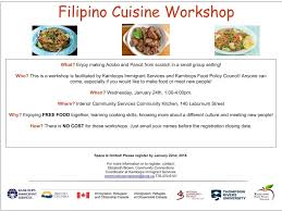 cuisine collaborative cuisine workshop kamloops food policy council