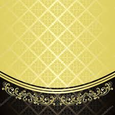 Luxurious Decorative Element Luxury Background Decorated A Vintage Ornament Gold And Black