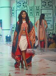 pakistani model presents a summer creation collection on a