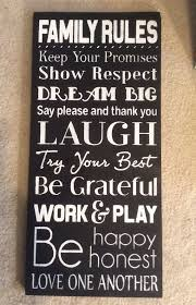 Custom Signs For Home Decor Best 25 House Rules Sign Ideas On Pinterest Family Rules Sign