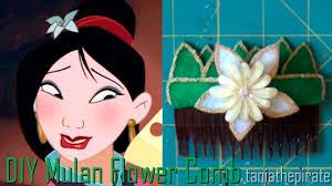 mulan hair comb diy mulan flower hair comb