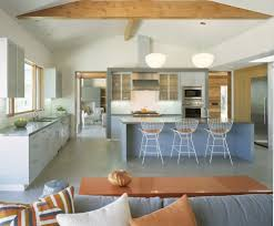 Mid Century Kitchen Cabinets Ideas Exciting Sloped Ceiling With Ceiling Beams And Rustic