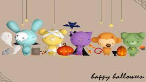 cartoon halloween wallpaper cute halloween background wallpapersafari