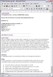 Sample Resume For Canada by Job Canada Post Your Resume