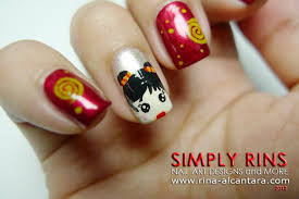 Lunar New Year 2015 Decoration Ideas by 60 Latest Chinese Nail Art Designs