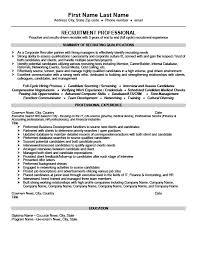 Sample Consultant Resume by Chic Inspiration Recruiter Resume 12 Senior Recruiter Or