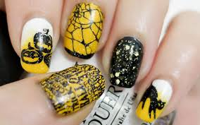 cute halloween nails halloween nails konad stamping youtube