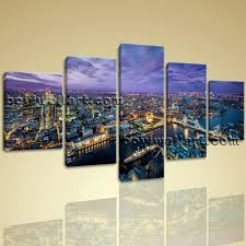 large london skyline canvas art contemporary wall dining room prints