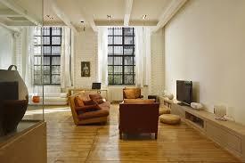 Exposed Brick Apartments Complete Living Room Architectural And Interior Design Interior