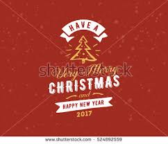 merry happy new year text stock vector 524892559
