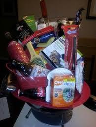 Camping Gift Basket Scrapbook Basket For Silent Auction Misc Pinterest