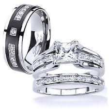 Wedding Rings Sets For Him And Her by His And Her Wedding Band Sets Ebay