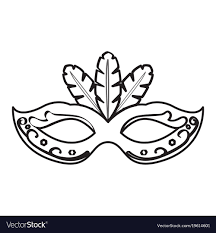 black and white mardi gras masks mardi gras mask icon royalty free vector image