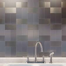 kitchen peel and stick metal tiles backsplash for kitchen metallic