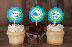 baby shower whale theme whale baby shower whale theme cupcake toppers in aqua blue