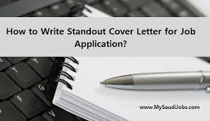 how to write standout cover letter for job application ghazala