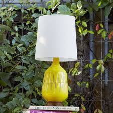 Yellow Table Lamp Mid Century Table Lamp Bottle West Elm