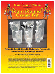 his and hers flasks genuine rum runner cruise kit 3 32oz and 3 8oz flasks