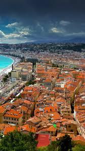 Mediterranean Houses by Download 1080x1920 France Nice Mediterranean Houses Clouds
