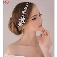 rhinestone headband hot rhinestone headband silver flower wedding party hair