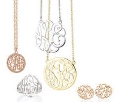 monogram jewelry cheap affordable jewelry