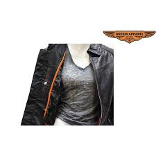 Cowhide Leather Vest Biker Leather Apparel Motorcycle Leather Accessories Womens