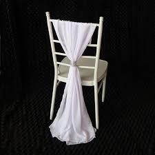 chiavari chair covers 130 pcs free shipping white chiffon chiavari chair sash chair
