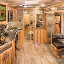cer trailer kitchen ideas loving the color scheme in this lakota bighorn with 14 living