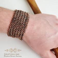 copper bracelet men images Mens copper bracelet copper chainmail bracelet medieval jewelry jpg