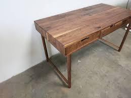 Modern Walnut Desk Crafted Modern Walnut Desk By Travis Furniture