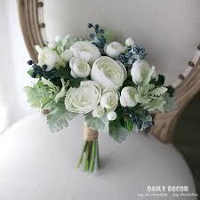 wedding bouquet white tea artificial flowers bridal bouquet flowers